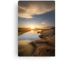 Meeting at Sunset Canvas Print