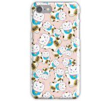 Maneki-neko good luck cat pattern iPhone Case/Skin