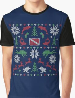 Scuba Dive Ugly Christmas Sweater Digital Art Graphic T-Shirt