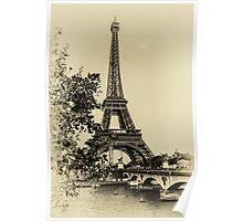 Vintage Mr Eiffel Poster