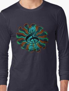 Psychedelic Treble Clef / G Clef Music Symbol Long Sleeve T-Shirt