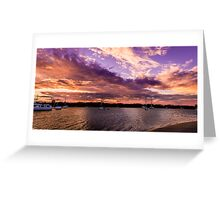 Bedroom Sunset Greeting Card