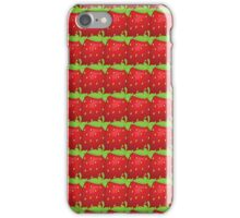 Vector seamless pattern of  many big strawberry iPhone Case/Skin