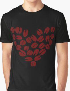 Coffee Bean Heart Graphic T-Shirt