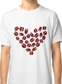 Coffee Bean Heart Classic T-Shirt