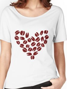 Coffee Bean Heart Women's Relaxed Fit T-Shirt