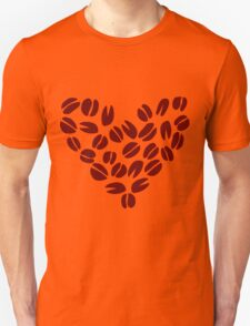 Coffee Bean Heart Unisex T-Shirt