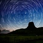 Stars trails over Devils Tower by Alex Preiss