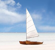 Yacht on the Beach by jwwallace
