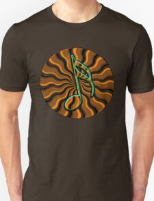 Earthy Semiquaver -  16th Note Music Symbol Unisex T-Shirt