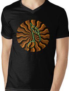Earthy Semiquaver -  16th Note Music Symbol Mens V-Neck T-Shirt