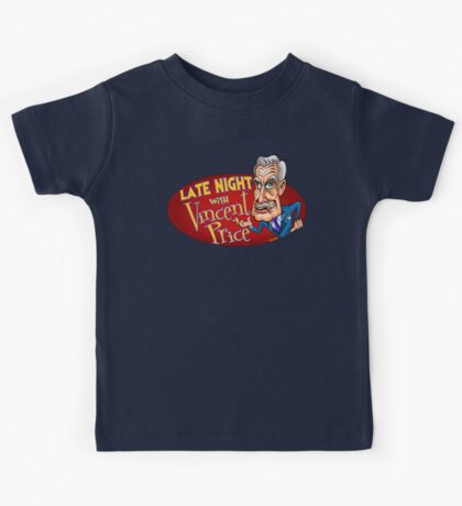 Late Night with Vincent Price  Kids Tee