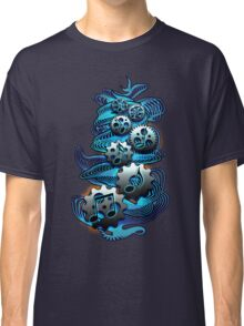 Music Engineer - Music Notes & Gears (blue) Classic T-Shirt