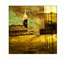 Canal Abstract One Art Print