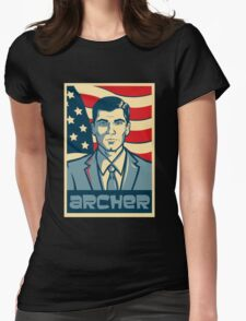 Archer For President Womens Fitted T-Shirt