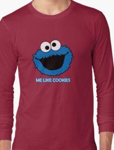 Blue Cookie Monster Long Sleeve T-Shirt