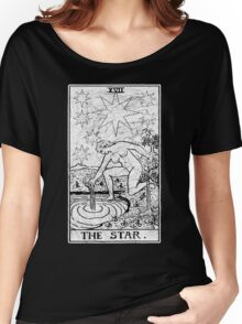 The Star Tarot Card - Major Arcana - fortune telling - occult Women's Relaxed Fit T-Shirt