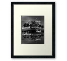 ©DA The Island III Monochromatic Framed Print