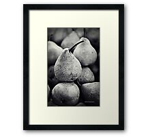 Stacked Pears Framed Print