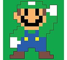 Super Mario Maker - Luigi Costume Sprite Photographic Print