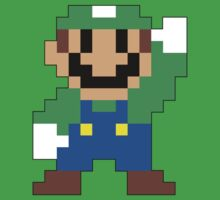 Super Mario Maker - Luigi Costume Sprite Kids Tee