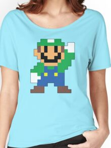 Super Mario Maker - Luigi Costume Sprite Women's Relaxed Fit T-Shirt