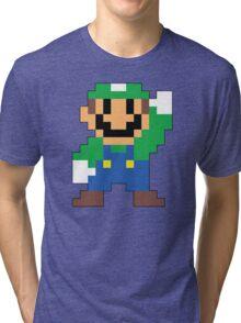 Super Mario Maker - Luigi Costume Sprite Tri-blend T-Shirt