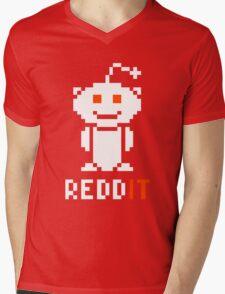 Reddit Logo 8-Bit Mens V-Neck T-Shirt