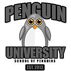 Penguin University - Grey by Adamzworld