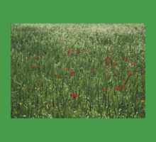Poppy Field And Springtime Hay Meadow Baby Tee