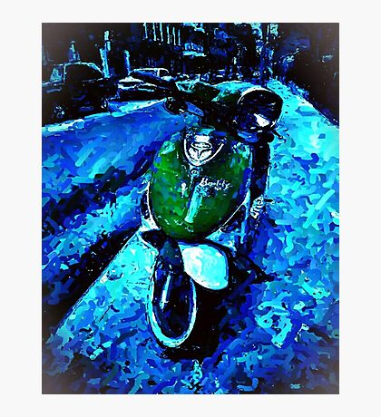 Green Scooter Photographic Print
