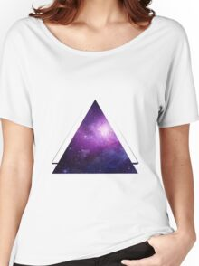 Galaxy 3D Triangle Women's Relaxed Fit T-Shirt