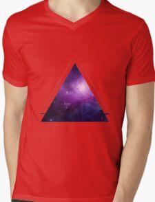 Galaxy 3D Triangle Mens V-Neck T-Shirt