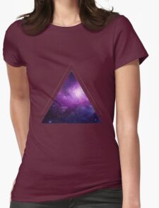 Galaxy 3D Triangle Womens Fitted T-Shirt