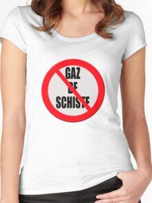 "Contra ""Gaz de Schiste"" Women's Fitted Scoop T-Shirt"