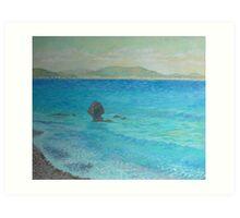 Aegean Sea. Early morning Art Print