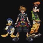 Kingdom Hearts Sora, Goofy, Donald by mnzero