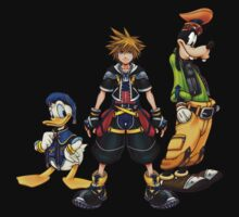 Kingdom Hearts Sora, Goofy, Donald by mnzero