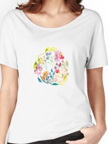 Floral Circle Women's Relaxed Fit T-Shirt
