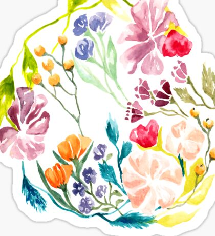 Floral Circle Sticker