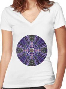 Purple Dreams T-shirt Women's Fitted V-Neck T-Shirt
