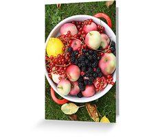 Fruit + Berries Greeting Card