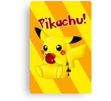 Pikachu's Apple Canvas Print