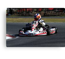 Go Kart Racer Canvas Print