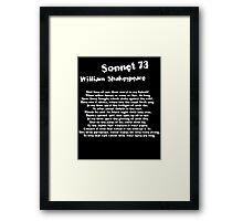 William Shakespeare Sonnet 73 Grunge T Shirt Framed Print
