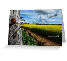 Canola Crop Fun Greeting Card