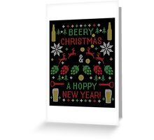 Beery Christmas Hoppy New Year Ugly Sweater Digital Art Greeting Card