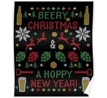 Berry Christmas Hoppy New Year Ugly Sweater Digital Art Poster