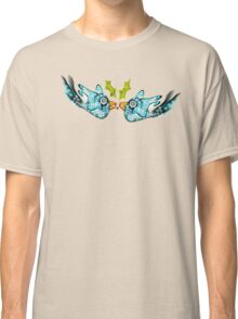 BluE WiNTER sNOW bIRDs (PEACE ON EARTH) Classic T-Shirt