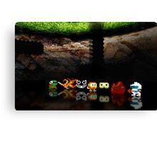 Dig Dug pixel art Canvas Print